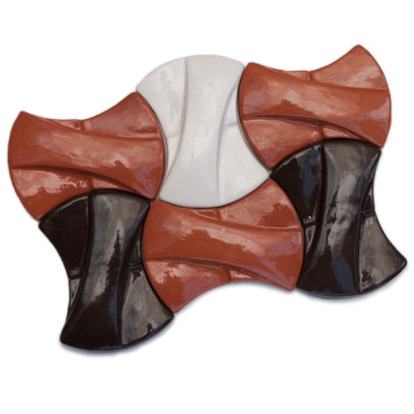 Авторская глазурованная керамическая плитка ручной работы КЕРАМИТА «Кросс»