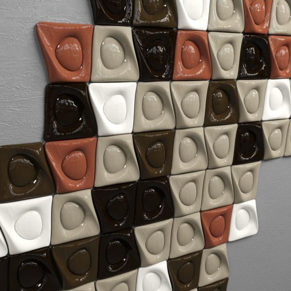 Авторская глазурованная керамическая плитка ручной работы КЕРАМИТА «Фрида»